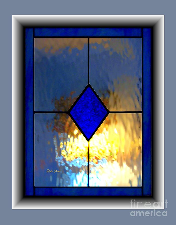 Stained Glass Digital Art - The Window by Dale   Ford