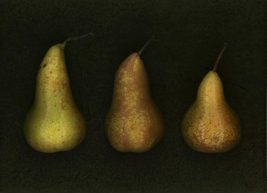 Three Golden Pears Photograph