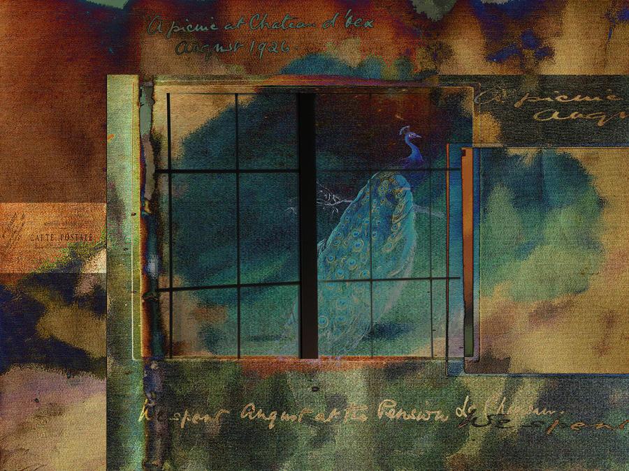 Peacock Digital Art - Through A Glass Darkly by Sarah Vernon