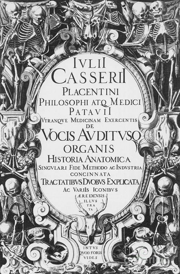 Title Page, Giulio Casserios Anatomy Photograph