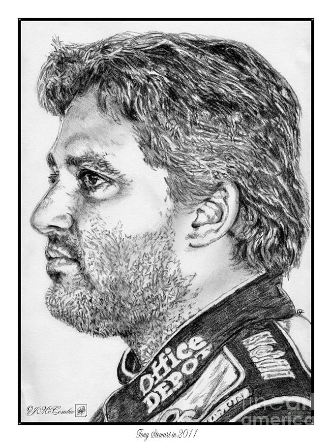 Tony Stewart In 2011 Drawing  - Tony Stewart In 2011 Fine Art Print