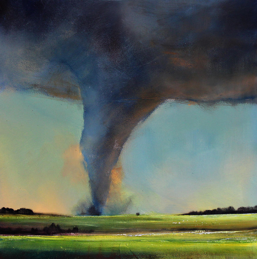 Tornado On The Move Painting  - Tornado On The Move Fine Art Print