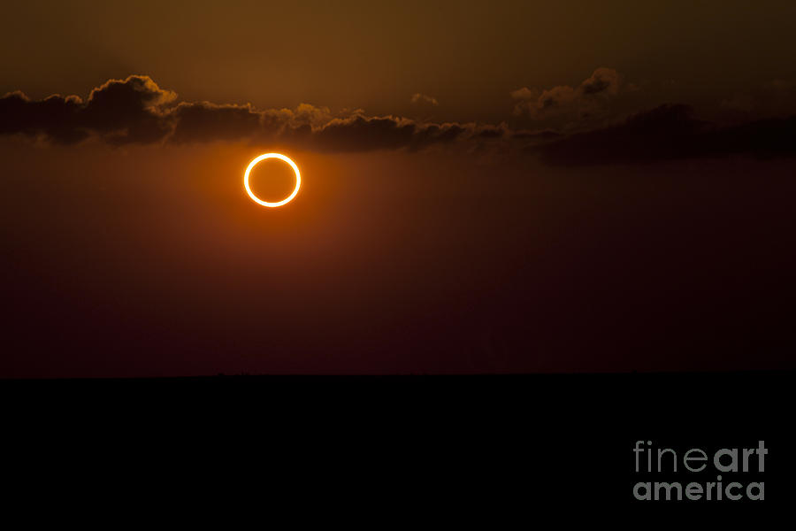 Totality During Annular Solar Eclipse Photograph