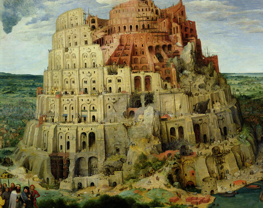Tower Of Babel Painting  - Tower Of Babel Fine Art Print
