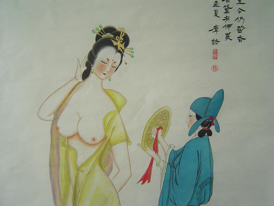 Tr 024 High-ranked Imperial Concubine Come Out Bath Painting