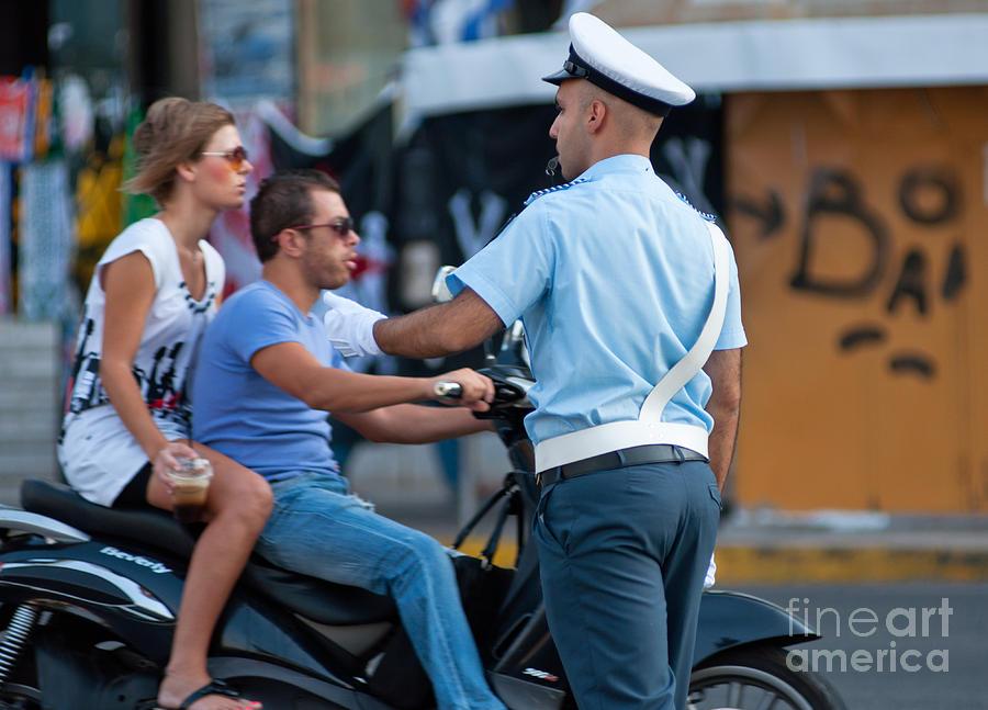 Traffic Cop Photograph