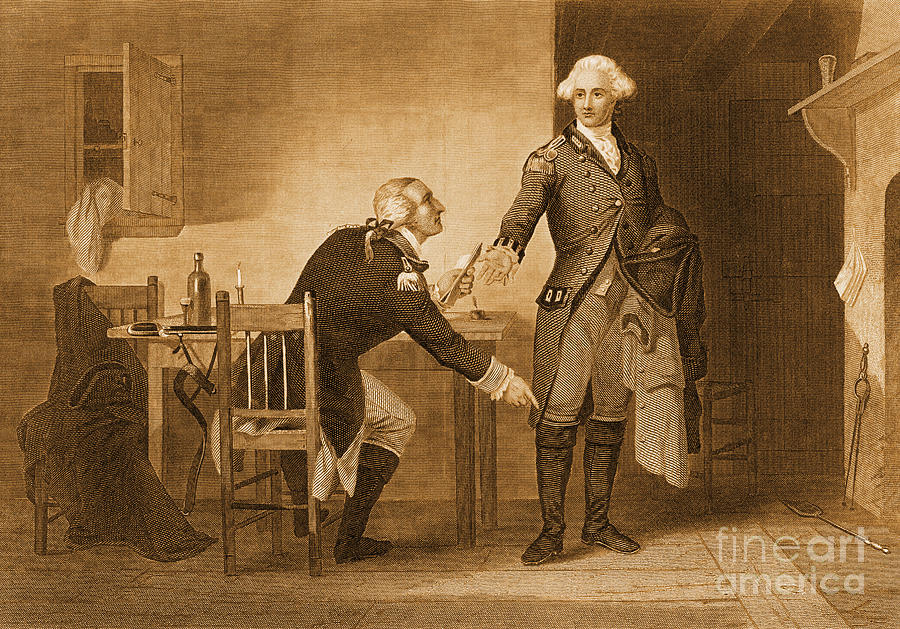 Treason Of Benedict Arnold, 1780 Photograph  - Treason Of Benedict Arnold, 1780 Fine Art Print
