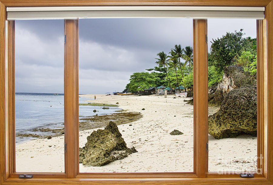 Tropical Jungle Paradise Window Scenic View Photograph  - Tropical Jungle Paradise Window Scenic View Fine Art Print