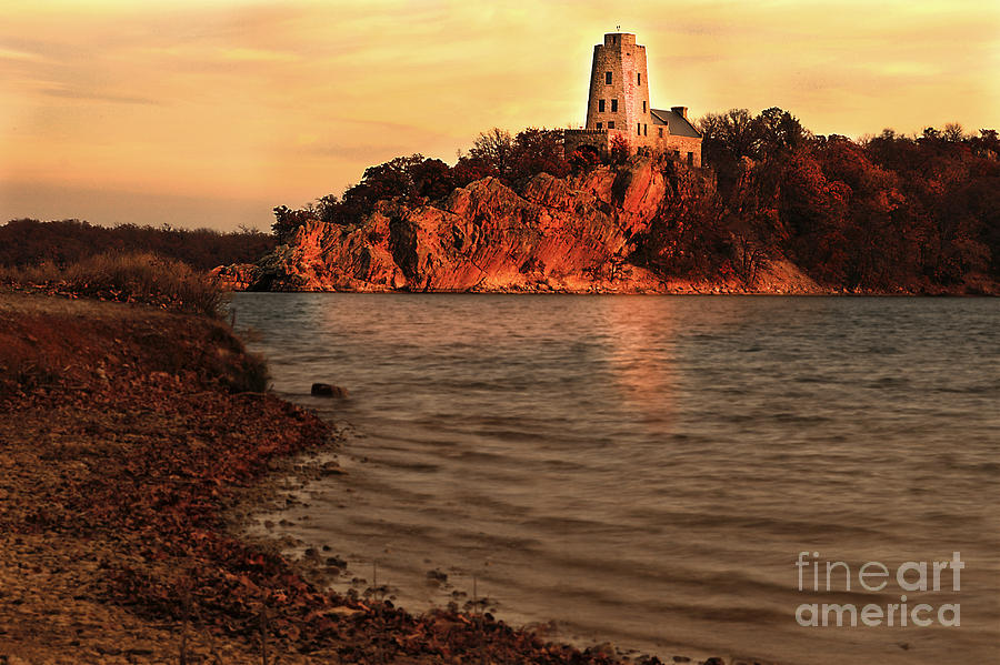 Tuckers Tower At Sunset Photograph