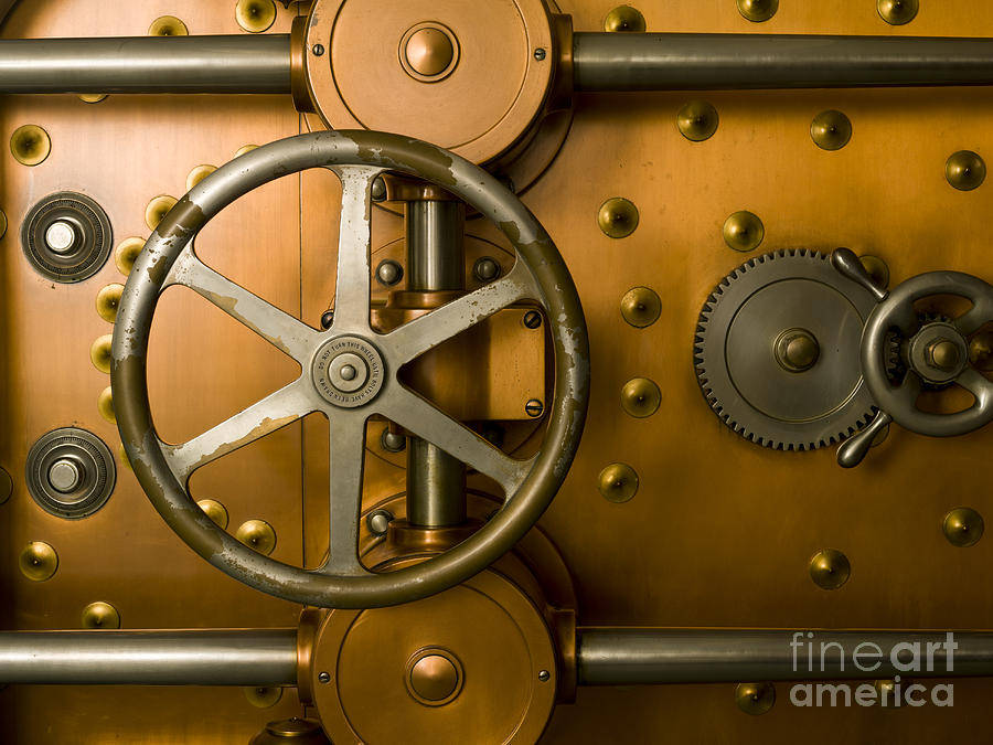 Tumbler Bank Vault Door Photograph