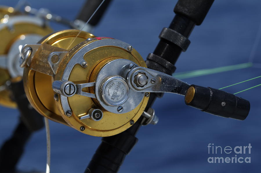 Two Rod And Reels On Board A Game Fishing Boat In The Mediterranean Sea Photograph  - Two Rod And Reels On Board A Game Fishing Boat In The Mediterranean Sea Fine Art Print