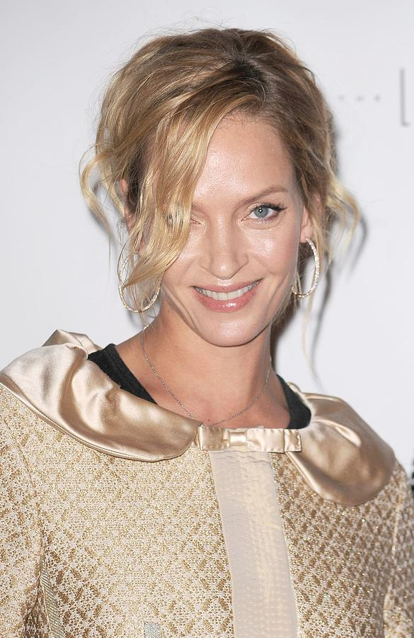 Uma Thurman In Attendance For Friars Photograph  - Uma Thurman In Attendance For Friars Fine Art Print