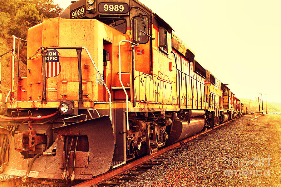 Union Pacific Locomotive Trains . 7d10588 Photograph  - Union Pacific Locomotive Trains . 7d10588 Fine Art Print