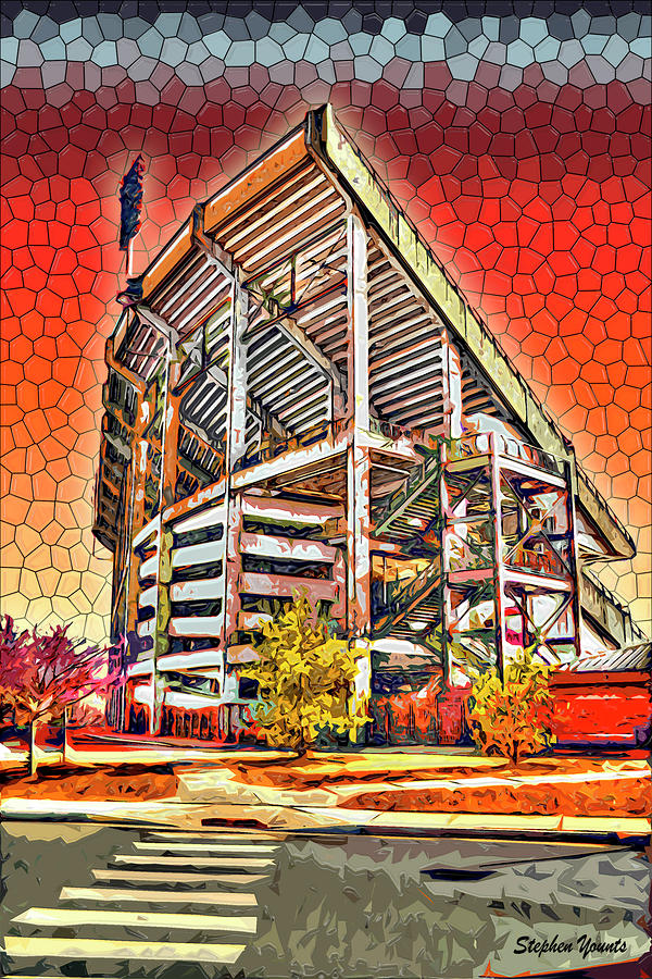 University Of Maryland - Byrd Stadium Digital Art  - University Of Maryland - Byrd Stadium Fine Art Print