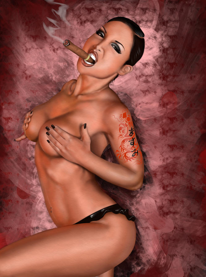 Up In Smoke Painting  - Up In Smoke Fine Art Print