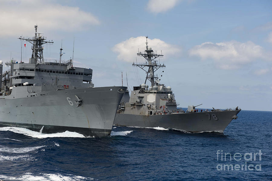 Usns Supply Conducts A Replenishment Photograph