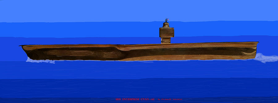 Uss Enterprise Cvan 65 Digital Art  - Uss Enterprise Cvan 65 Fine Art Print