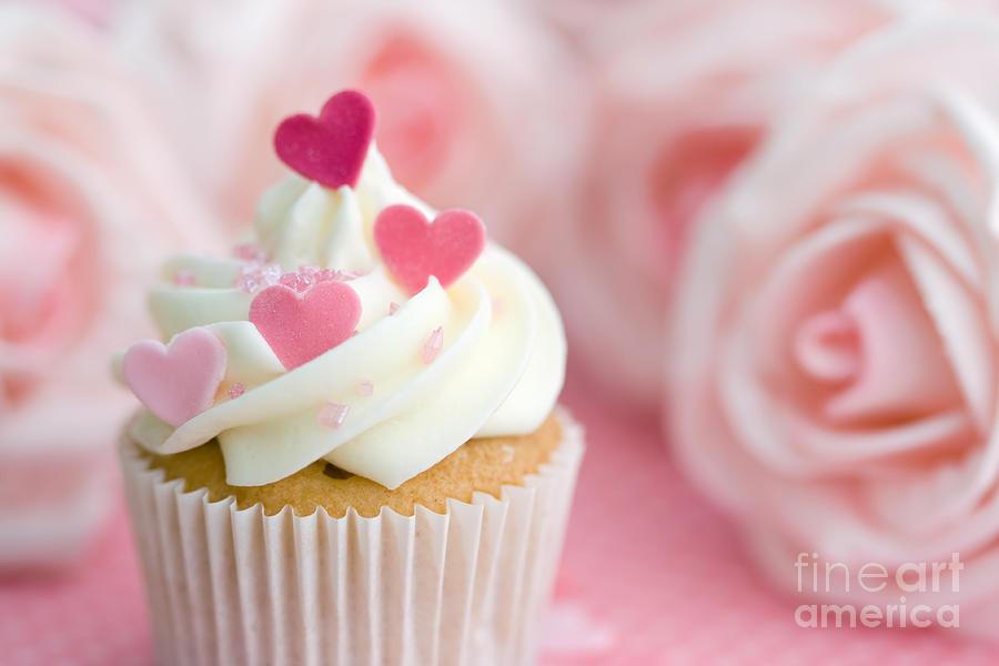 Valentine Cupcake Photograph
