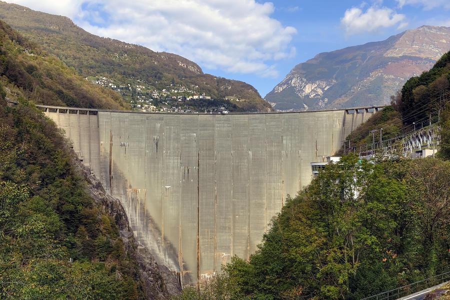 Dam Photograph - Valle Verzasca - Ticino by Joana Kruse