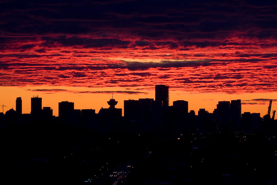 Vancouver Sunset  Photograph