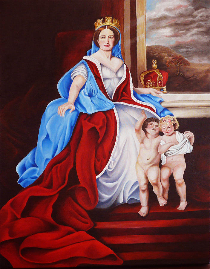 Venerated Virgin Painting
