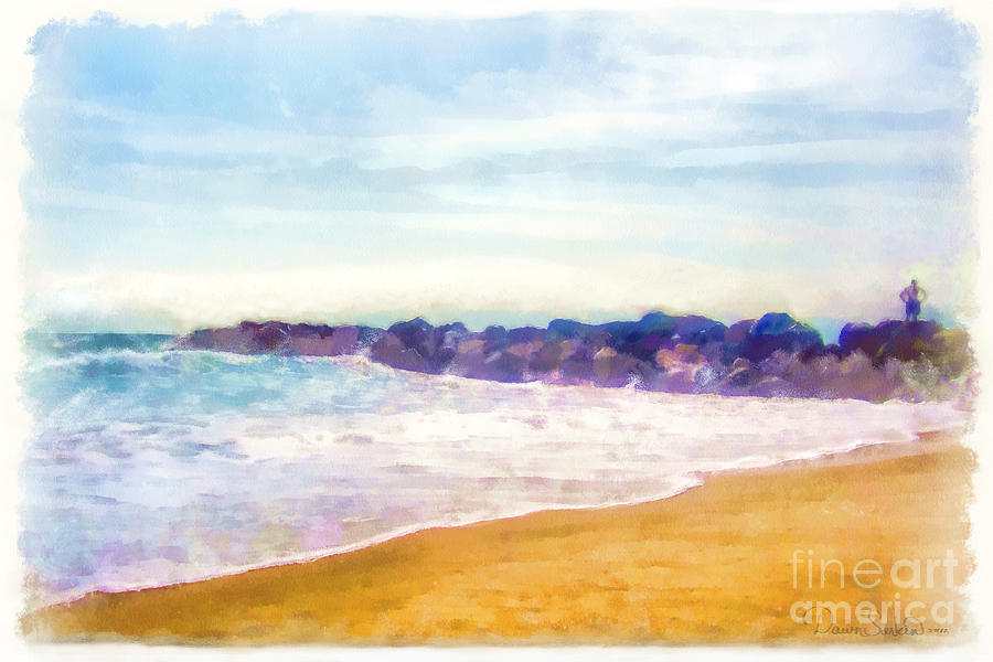 Venice Beach Mixed Media  - Venice Beach Fine Art Print