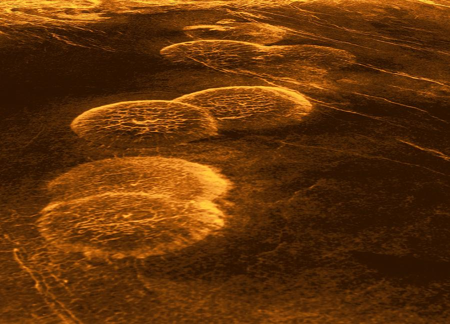 Venus, Synthetic Aperture Radar Map Photograph