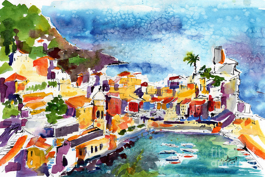 Vernazza Cinque Terre Italy Painting