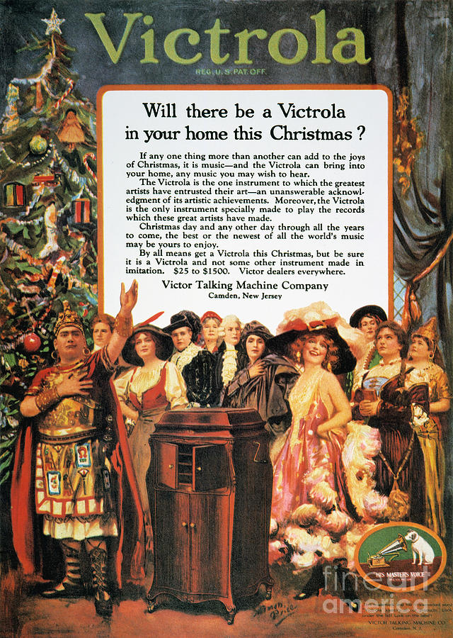 Victrola Advertisement Photograph  - Victrola Advertisement Fine Art Print