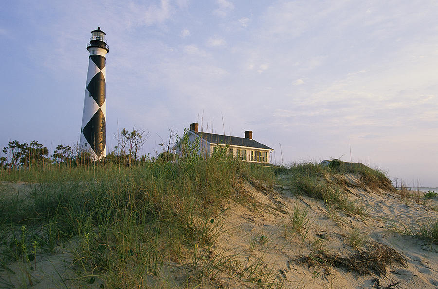 View Of Cape Lookout Lighthouse Photograph  - View Of Cape Lookout Lighthouse Fine Art Print