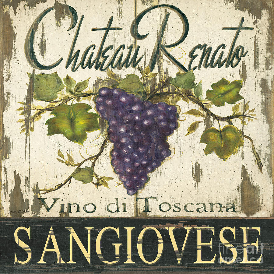 Vineyard Red Wine Sign Painting