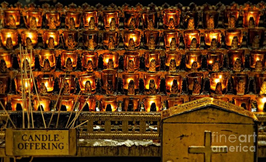 Votive Candles Photograph