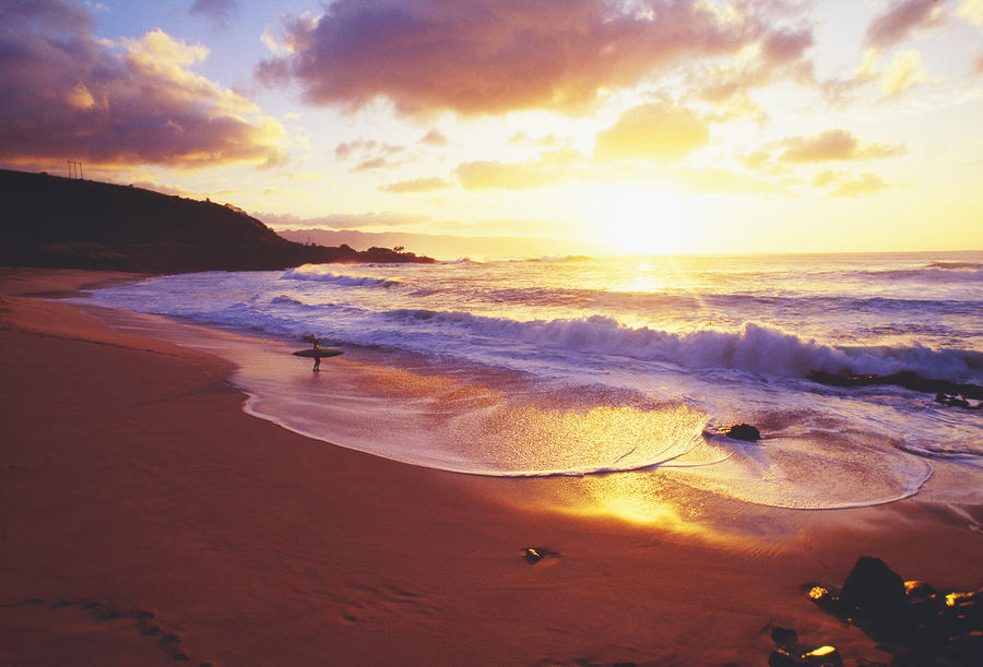 Waimea Bay Sunset Photograph