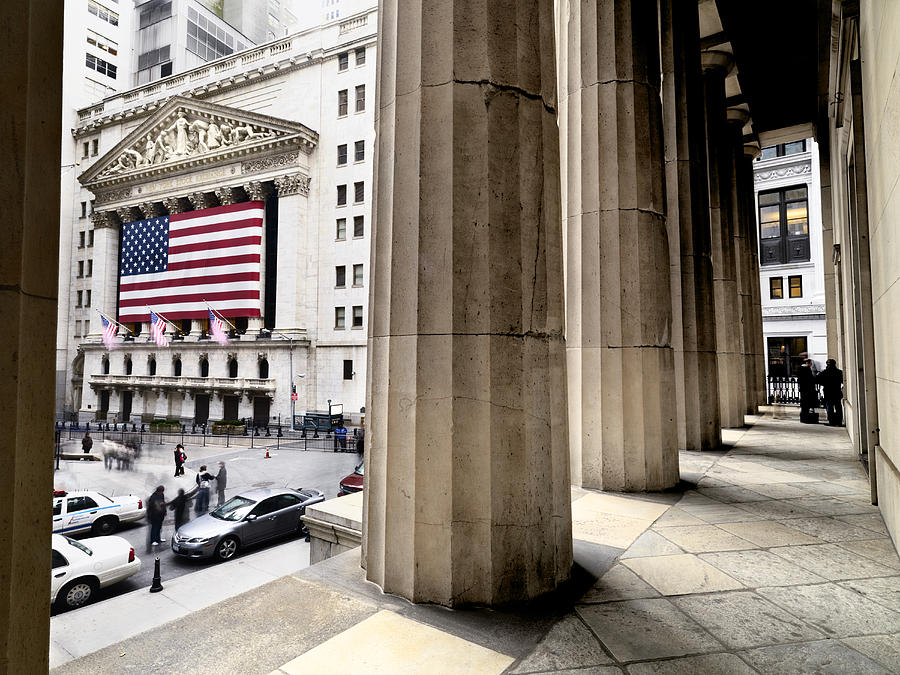 Wall Street And The New York Stock Photograph
