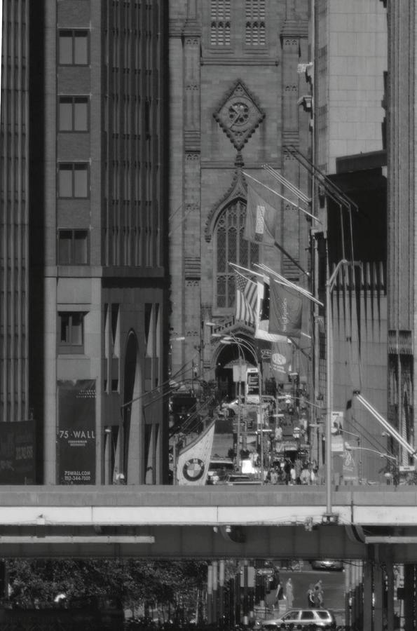 Street Wall Art Black And White : Wall street from brooklyn black and white by christopher kirby