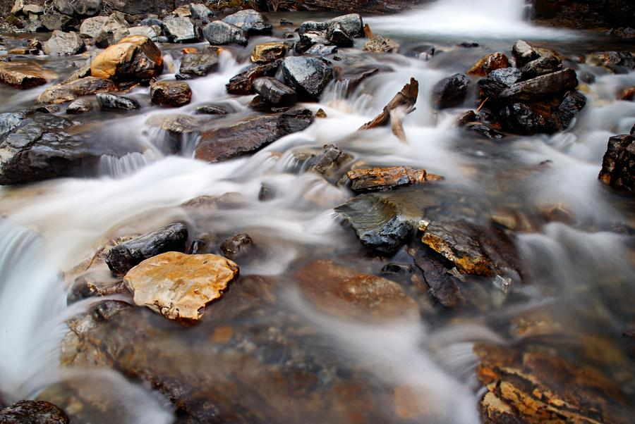 Water On The Rocks Photograph