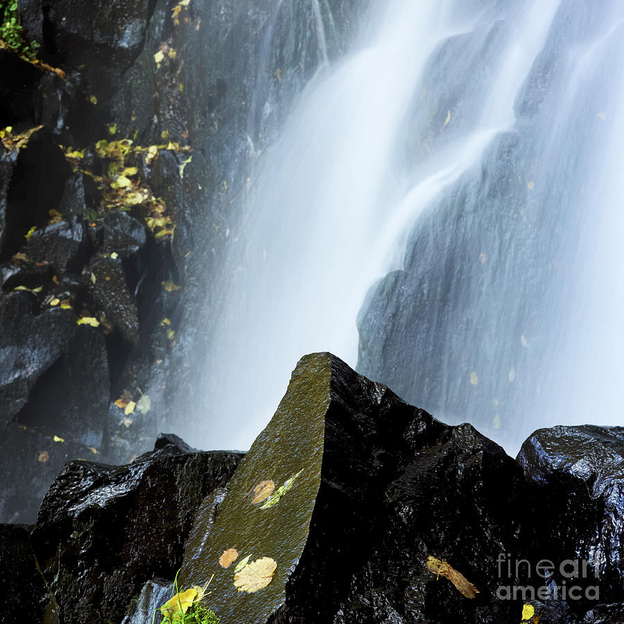 Waterfall In Auvergne Photograph