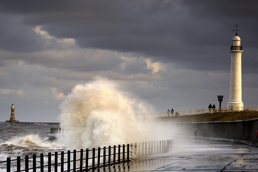 Waves Crashing, Sunderland, Tyne And Photograph