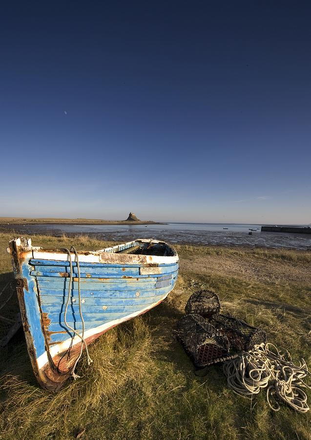 Weathered Fishing Boat On Shore, Holy Photograph