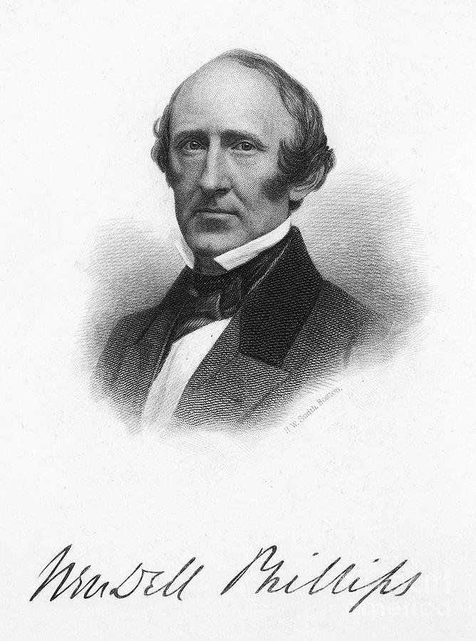 1868 Photograph - Wendell Phillips (1811-1884) by Granger