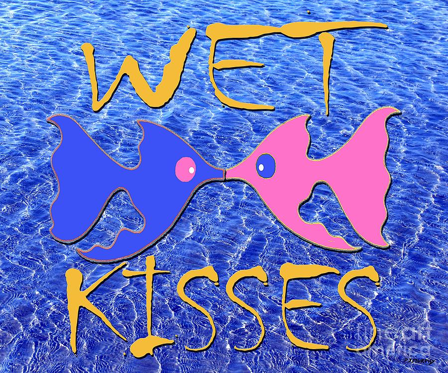 Wet Kisses Painting  - Wet Kisses Fine Art Print