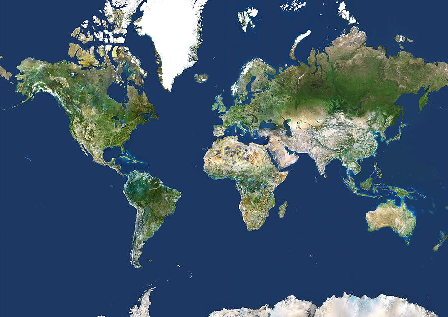 Whole Earth Map by Planetobserver