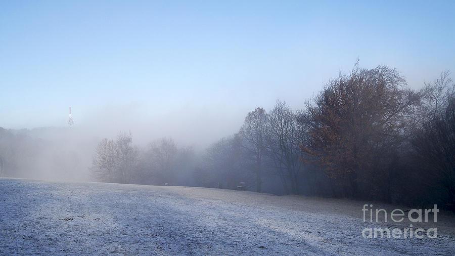 Alone Photograph - Winter Landscape by Odon Czintos