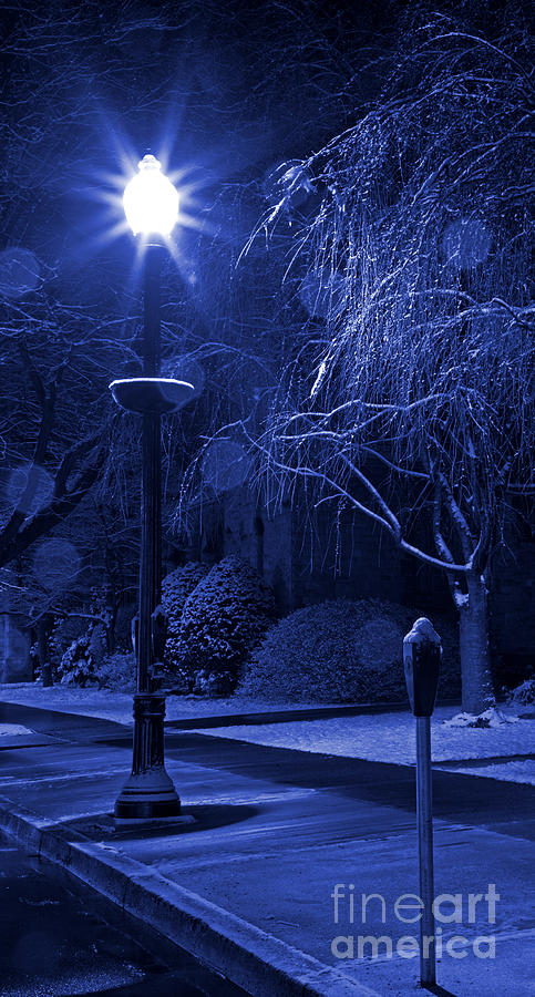Winter Sidewalk Blues Photograph  - Winter Sidewalk Blues Fine Art Print