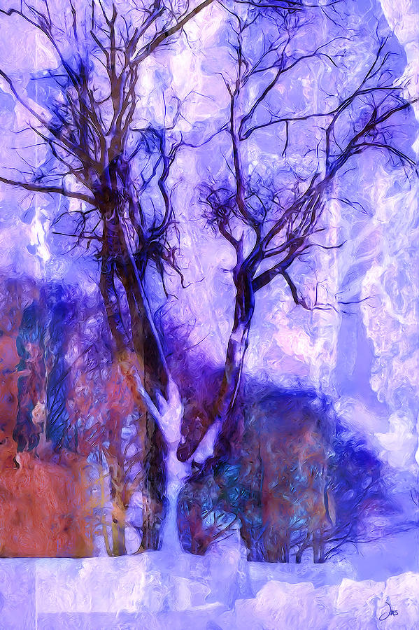 Winter Tree Digital Art