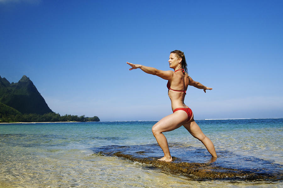 Woman Doing Yoga Photograph