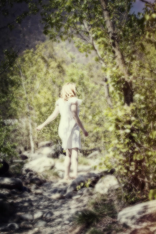 Woman In A Forest Photograph  - Woman In A Forest Fine Art Print