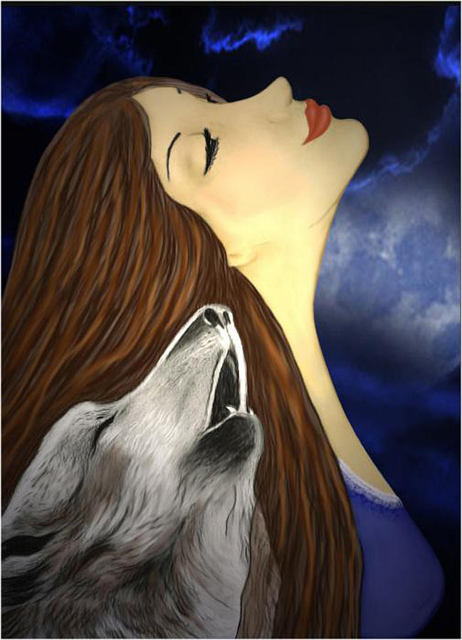 Donna con lupi