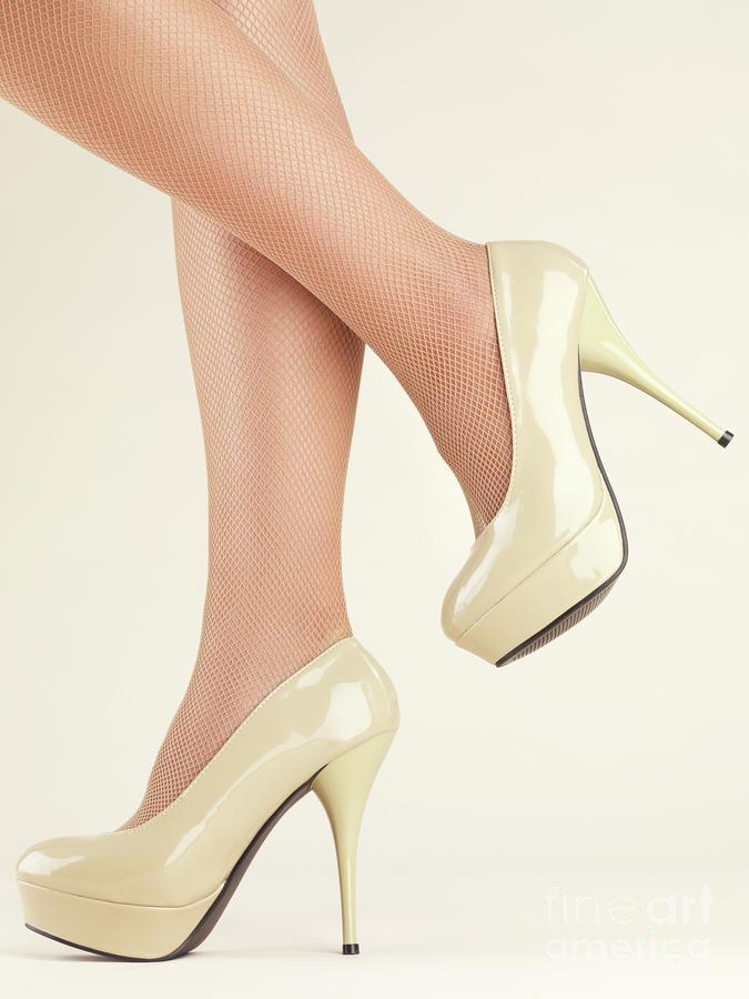 Woman Wearing High Heel Shoes Photograph