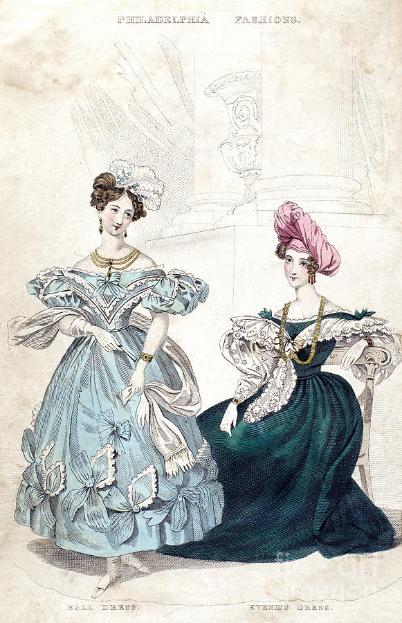Womens Fashion, 1833 Photograph
